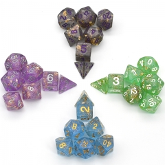 Shimmer Gold Foil Dice Series  for DND RPG MTG