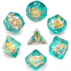 Green Conch Dice(silver font)