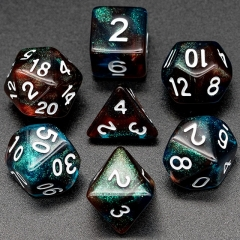 Red&blue Glitter Dice (white font)