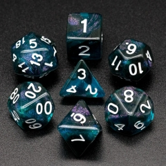 Black&Blue Glitter Dice