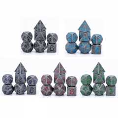 Old Dragon Font Metal Dice