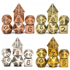 Ancient Dragon Font Metal Dice