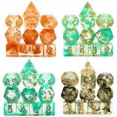 11 PC  Glitter Smoke Clear Dice
