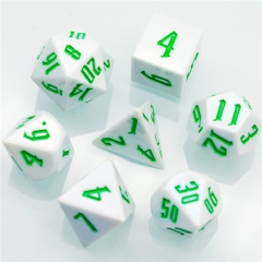 White Colourful  DND Dice(Red font)