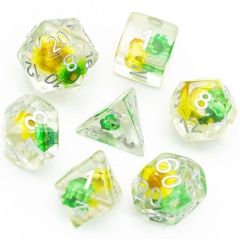 Green&Yellow Star Flower  Dice
