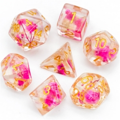 Pink&White Flower Dice