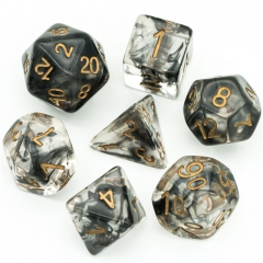 Black Smoke Dice for DND RPG MTG